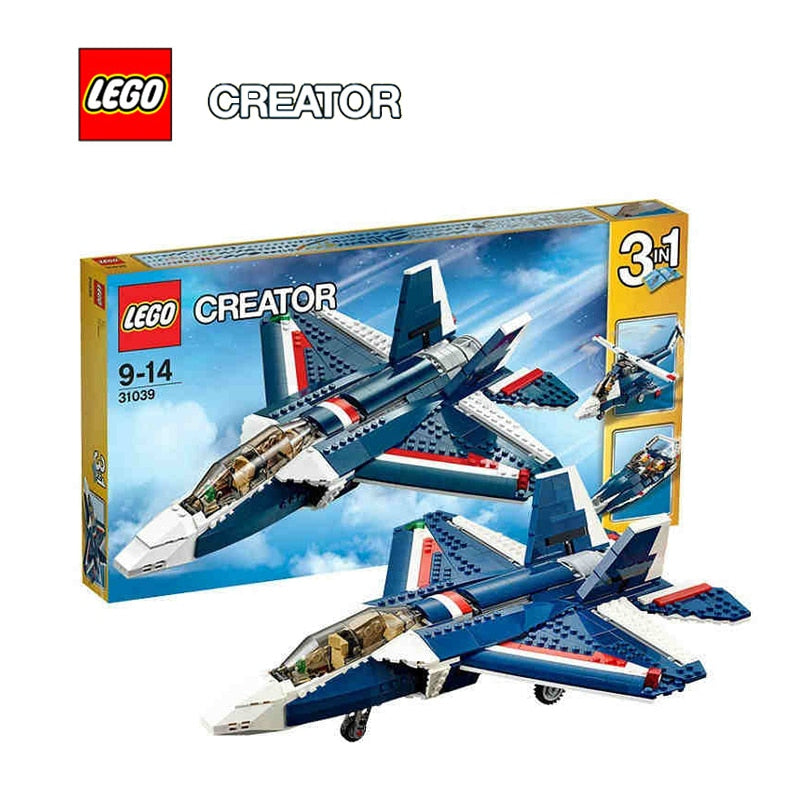 LEGO Creator Blue Power Jet Architecture Building Blocks Model Kit Puzzle Educational Toys For Children LEGC31039