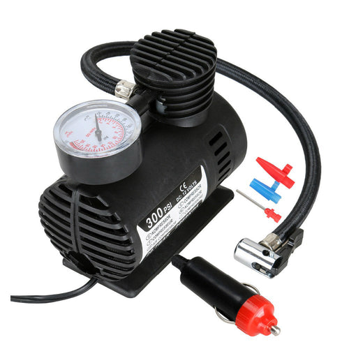 Car Air Pump Air Compressor Auto Tire Air Infiltrator Pump 12V 300PSI