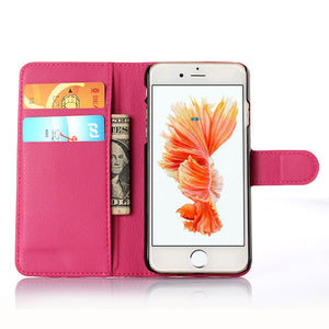 KONSMART Leather Book Style Coque For iphone 6 6S Plus Wallet Style Flip PU Case For iphone 6s iphone6 Fundas Phone Cases Cover