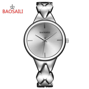 BSL1048 BAOSAILI Brand New Style Fashion Dress Ladies Bracelet Watch Alloy Golden Plated Quartz Movement Watch Waterproof Life
