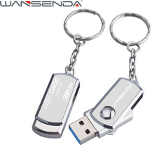 Stainless Steel USB 3.0 pen drive 4gb 8gb 16gb usb flash drive 32gb 64gb pendrive usb stick flash drive with keychain thumbdrive