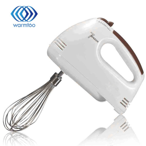 Electrical 7 Speed Handheld Food Blender Double Whisk Eggs Mixer Batter Beater Kitchen Cake Baking Helper Cooking Tools