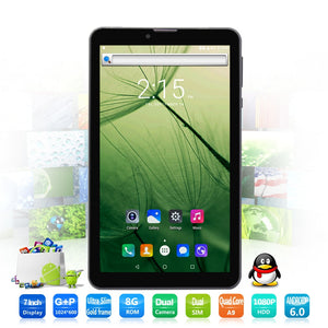 7 Inch small computer tablet pc 3G Phone Call Android 6.0 Tablets Pc Bluetooth FM HD LCD Dual SIM Card Phone