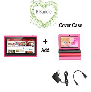 "7"" Tablet PC Android 4.4 Quad Core Bluetooth WiFi Capacitive Quad Core Cam Pink Tablet PC 512+8G android Tablet 7 8 9 10 tablet"