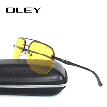 OLEY Yellow Polarized Sunglasses Men night vision glasses Brand Designer women spectacles car drivers Aviation goggles for man