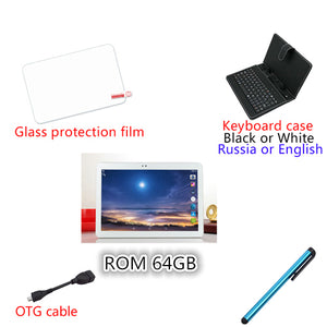 "2018 10.1"" Android 7.0 Tablet Pc Octa Core 4GB RAM 32GB 64GB Tablette Built-in 3G Phone Call Dual SIM Card Tablets PC FM WIFI"