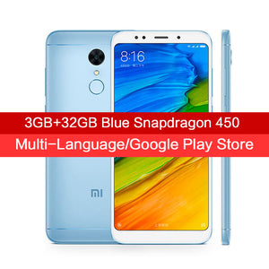 "Global Version Xiaomi Redmi 5 3GB 32GB Smartphone 18:9 Full Screen 5.7"" HD Display Snapdragon 450 Octa Core 12MP Camera MIUI 9"