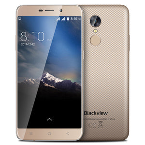 Blackview A10 Smartphone Android 7.0 Touch ID 2GB +16GB MTK6580A Quad core 5.0inch HD 3G Mobile phone 8MP Camera GPS cell phone