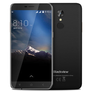 NEW Blackview A10 Mobile phone Fingerprint  Android 7.0  2GB +16GB MTK6580A Quad core 5.0inch HD Smartphone 8.0MP GPS cell phone