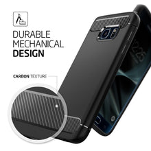Original RUGGED ARMOR Case For Galaxy S7 / S7 Edge Carbon Fiber Texture Flexible Soft Case for Samsung Galaxy S7 Edge/Galaxy S7