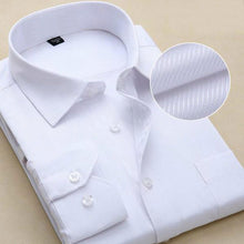 2017 New Design Twill Cotton Pure Color White Business Formal Dress Shirts Men Fashion Long Sleeve Social Shirt Big Size 5XL 6XL