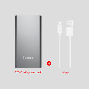 Yoobao A2 Power Bank 20000mAh 2 USB PowerBank Portable Charger External Battery Poverbank For iPhone 7 6 5 4 X 8 For Xiaomi Mi