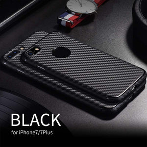 HOCO Thin Luxury Soft TPU Case for  iPhone 7 8& 7 8PLUS Back Cover With Carbon Fiber Texture Slim Protective Shell Protection