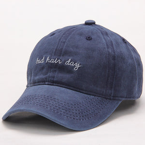 High Quality Washed Cotton Bad Hair Day Adjustable Solid Color Baseball Cap Unisex Couple Cap Fashion Dad HAT Snapback Cap