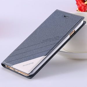 FLOVEME Luxury For iPhone 7 Case 5 6 6S Plus Flip Leather Phone Cases For Apple iPhone 5 5S SE 6 6S iPhone 7 Wallet Holster Case
