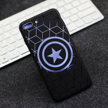 Fundas Coque for iPhone 8 7 6 6S Plus Case Cover Avengers Ironman Superman Spiderman Captain America for iphone X Case