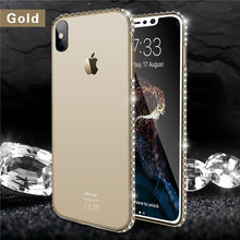 Lovebay Bling Diamond For Apple iPhone X 8 7 6s Plus 5s SE Phone Case Soft Transparent TPU Crystal Phone Case For iPhone 6 Cover