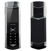 K9 Stainless Metal Real Leather Housing Invisible Key Camera Dual Sim Card Bluetooth Dialer Luxury Senior Mobile Cellphone P281