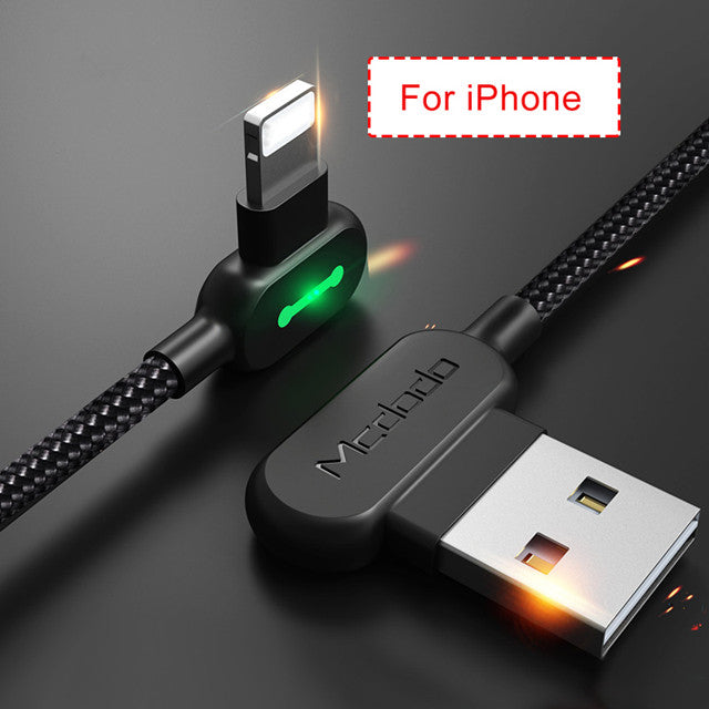 MCDODO USB Cable For iPhone Apple X 8 7 6 5 6s plus Cable Fast Charging Cable Mobile Phone Charger Cord Adapter Usb Data Cable