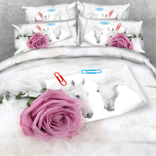 Royal Linen Source 3 PCS PER SET Rainbow Rose Explosion pretty luxury 3d bedding set