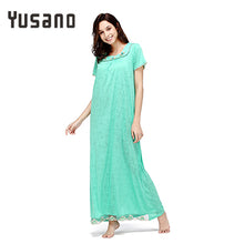 Yusano Women Long Nightgown Cotton Long Nightdress Loose Sleep Dress Casual Home Clothe Nightshirt Lace Plus Size Sleepwear