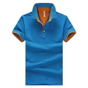 2018 Summer Short Sleeve Polo Shirt Men M-4XL ASIAN SIZE 11 Solid color Choose