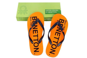 United Colors Of Benetton Orange Slippers (Size 10)