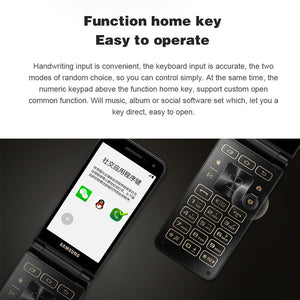 "New Original Samsung Galaxy Folder 2 G1650 Dual SIM 16GB ROM 2GB RAM Quad Core 8.0MP 3.8"" Flip SmartPhone 4G LTE  Mobile Phone"