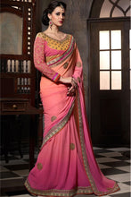 Pink Color Party Wear Designer Georgette Saree