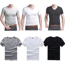Men's V Neck T-Shirt 2017 Spring Summer Fashion New Brand Short Sleeve Muscle T-Shirt