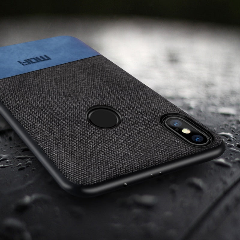 buy online a148c f4fd1 Xiaomi Redmi Note 5 Pro case cover note5 global version back cover silicone  edge fabric case coque MOFi Redmi note 5 pro case