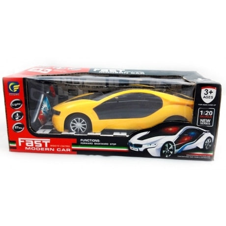 Remote Control Fast Modern Car With 3D Light