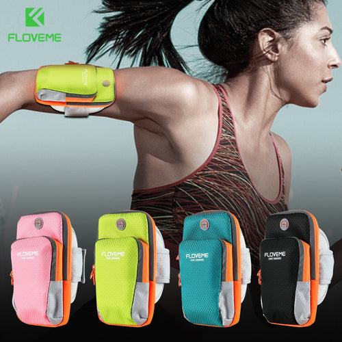 FLOVEME Universal Phone Bag Cases For iPhone 8 4S Sport Running Bag Arm Band For Apple 7 6 6S 5S 5 Mobile Phone Women Pouch Bag