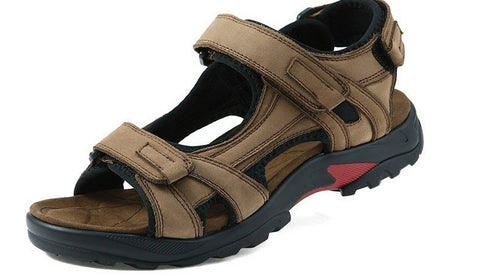 High Quality Men's Summer Leather Sandals Outdoor Sports Beach Shoes