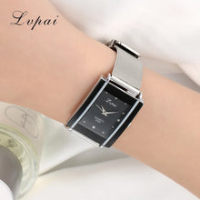 Lvpai Brand Women Bracelet Watch Silver Square Luxury Crystal Alloy WristWatches Women Fashion Men Watch Quartz Elegant Clock