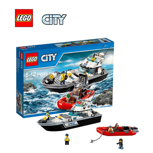 Lego city building bricks toy Police Patrol Boat Building blocks Toy for children LEGC60129