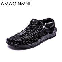 AMAGINMNI New arrived summer sandals men shoes quality comfortable men sandals fashion design casual men sandals shoes