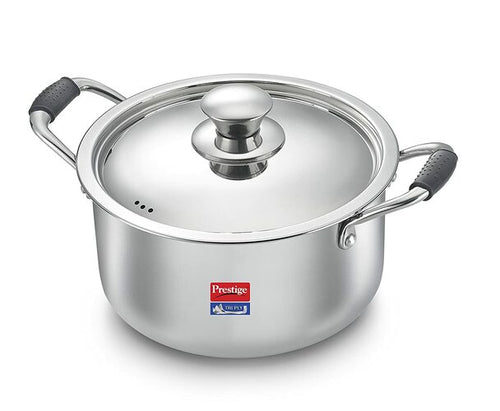 Prestige Induction Base Stainless Steel Casserole 200mm Silver (PRESTIGE-36807)
