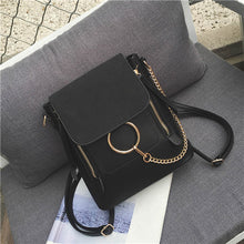 Multifunctional Backpack Double Zipper Chain Ring Shoulder Bags For Women Vintage Nubuck Leather Bags Women Shoulder Bags Female