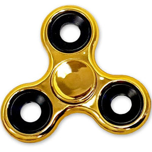 Metallic Shiny Metal Fidget Hand Spinner with 3 to 4 Minutes Spin Time