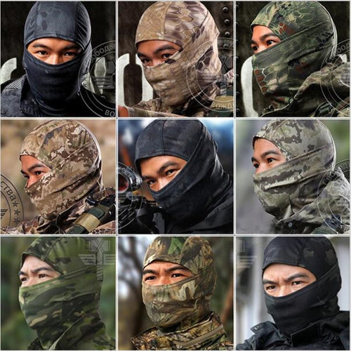 Military Tactical Hunting Camouflage Balaclava Face Mask Airsoft Paintball Gear Motorcycle Ski Cycling Protect Full Face Mask