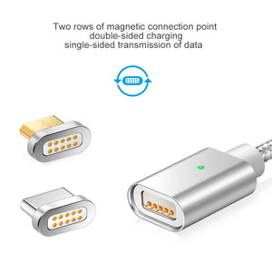 Elough E04 Magnetic Charger USB Data Cable Microusb USB-C Type C Mobile Phone Fast Charge Magnet Charger Micro USB Cable Type-C