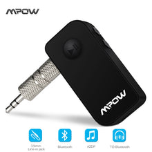 Original Mpow wireless Bluetooth 4.1 receiver Handsfree 3.5mm Car Audio Music Streaming Receiver Adapter Speaker car speaker