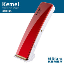 Kemei518A Portable Electric Hair and Beard Trimmer Rechargeable Hair Clipper Cutter Both Charging And Battery