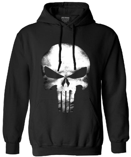 the punisher skull long sleeve fleece hip hop streetwear hoodies men funny sweatshirt 2017 autumn new fashion hoodie man clothes