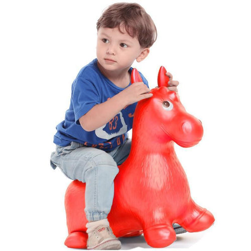Bouncy Horse  Hopper Musical Toys Inflatable Bouncer Jumping Child Inflatable Rubber Baby Toy 60*52*28cm