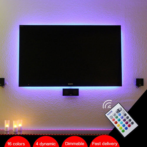 BASON USB Powered RGB LED TV / Monitor Backlighting LED mood Light for 32' 40' 43