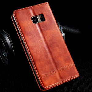 FLOVEME Phone Cases For iPhone 6 6s 7 7 Plus Luxury Men Flip Leather Brown Wallet Mobile Cover Case For iPhone 7 6s 6 Capinhas