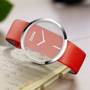 Women Watch DOM Brand luxury Fashion Casual Unique Lady Wrist watches leather quartz waterproof Stylish relogio feminino 205