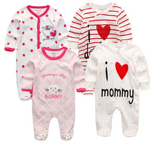 3/4/5Pcs/set Super Soft Cotton Baby Unisex Rompers Overalls Newborn Clothes Long Sleeve Roupas de bebe Infantis Boy clothing Set